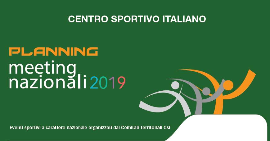 Calendario Nazionali.Calendario Meeting Nazionale 2019 Centro Sportivo Italiano